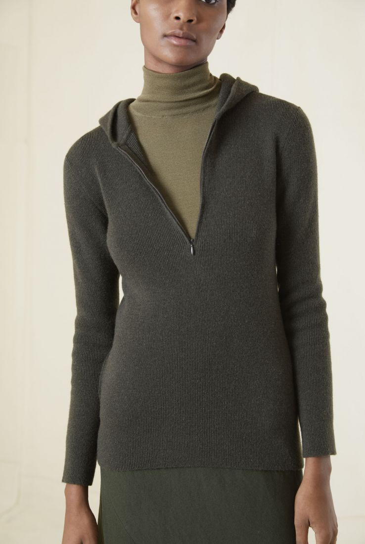 JACQUES, GREEN CASHMERE PULLOVER, AW20 collection – Cortana Moda