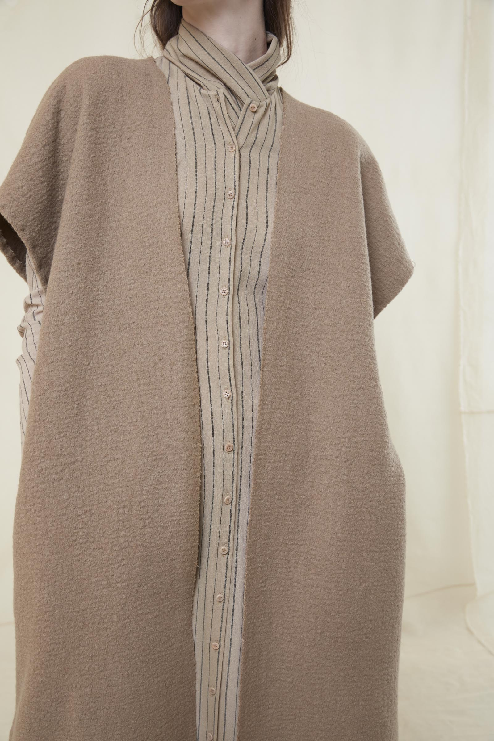 RAMPA, MERINO WOOL COAT - Cortana