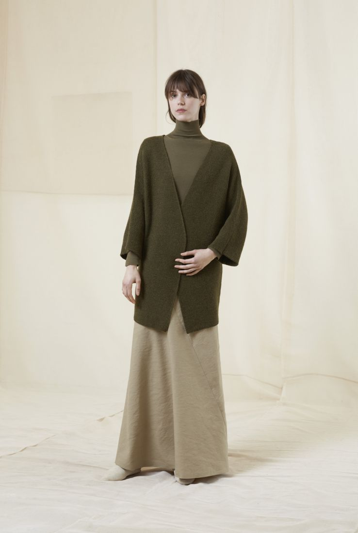 TED, GREEN CARDIGAN, AW20 collection – Cortana Moda