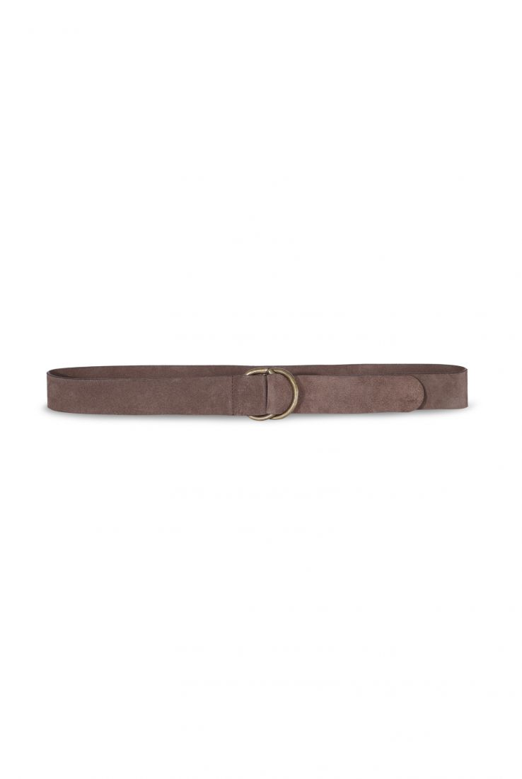 SUEDE BROWN BELT - Cortana Moda