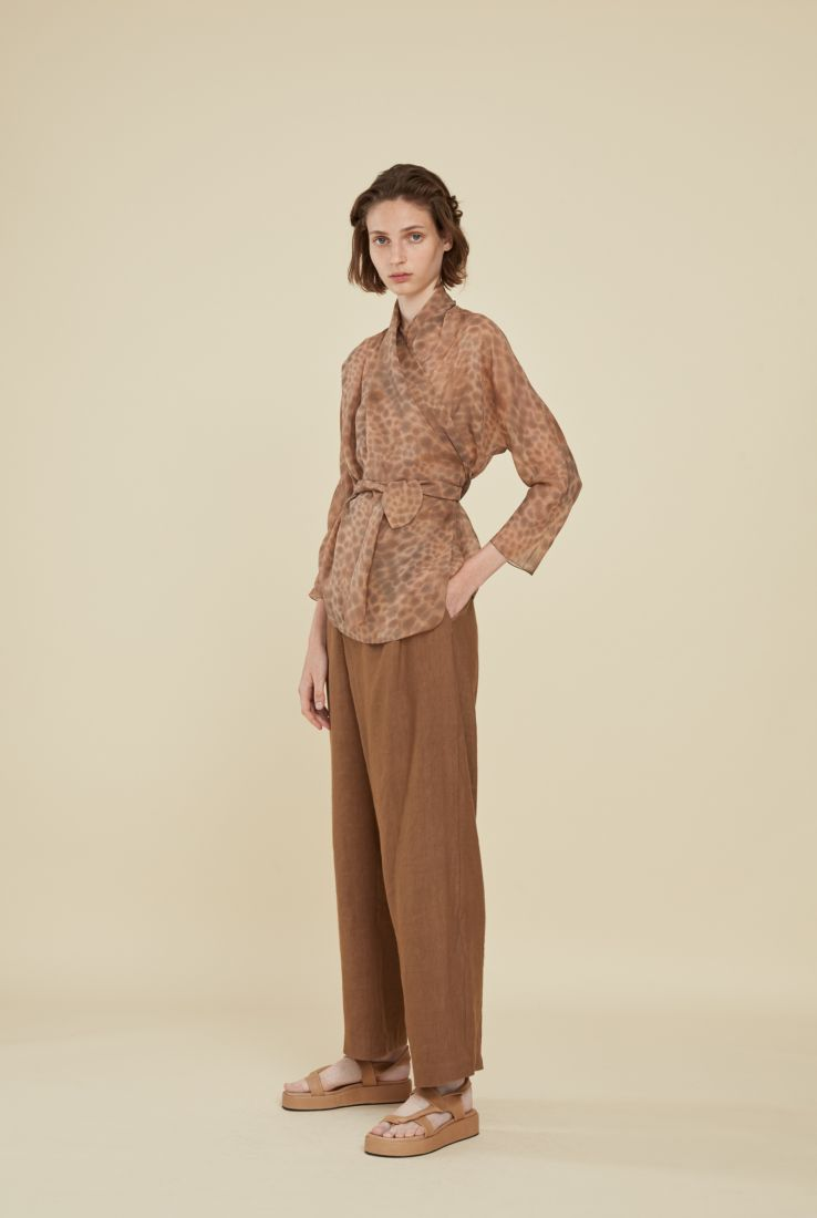 REMO CUIRE LINEN PANTS, SS21 collection – Cortana Moda