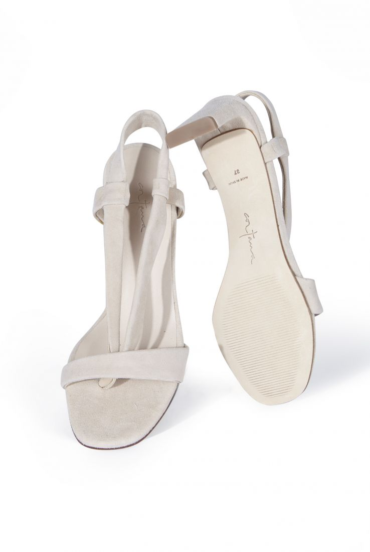 FEDRA, BEIGE SUEDE SANDAL, ESHOP collection – Cortana Moda