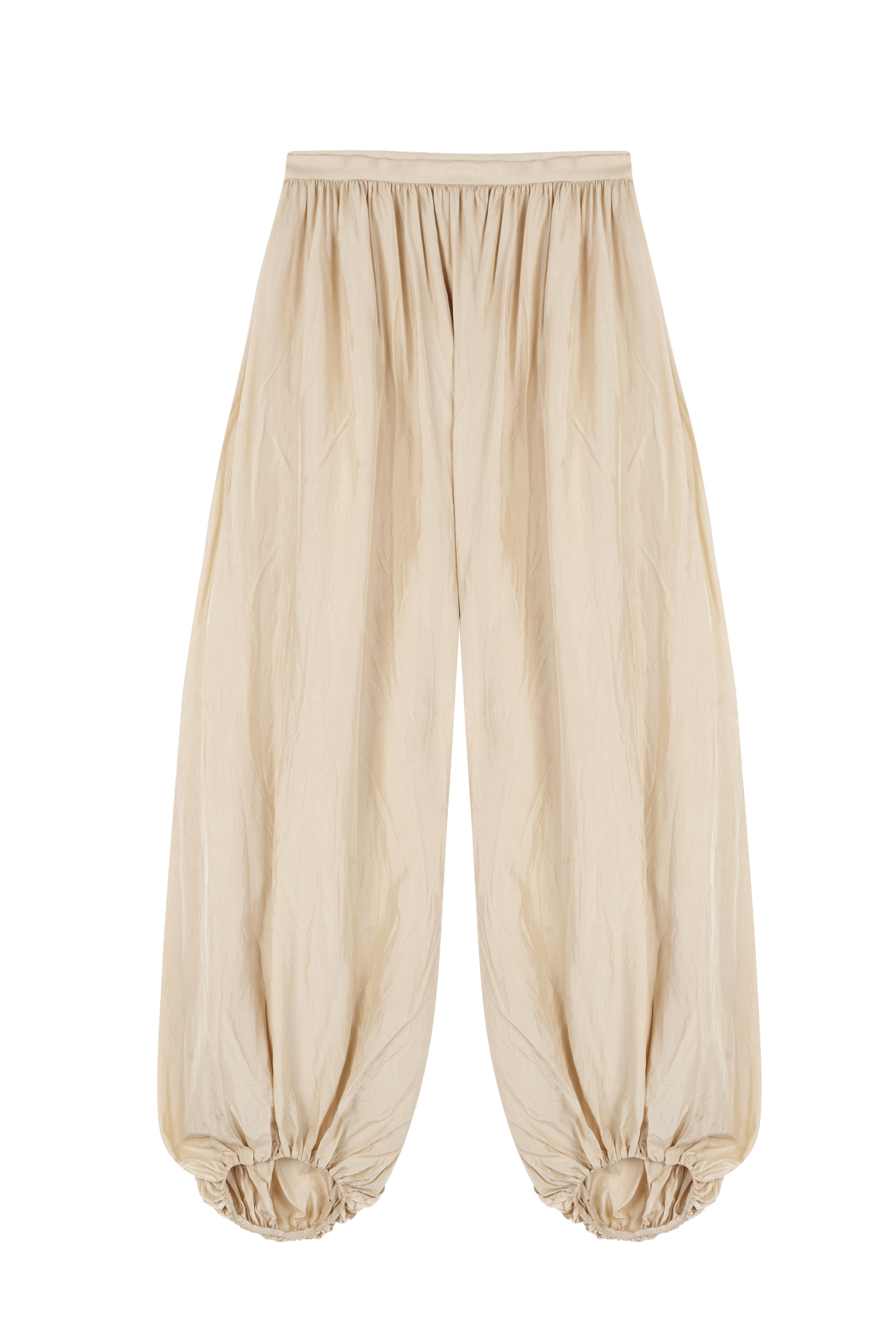 FIGA, BEIGE SILK PANTS - Cortana