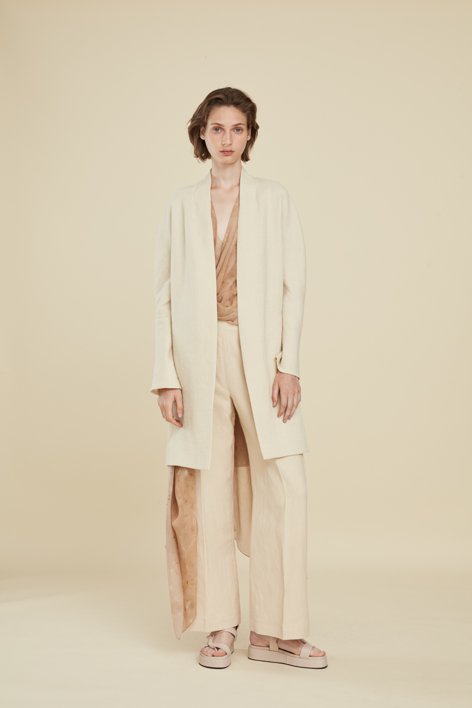 GANDHI, BEIGE JACKET, SS21 collection – Cortana Moda