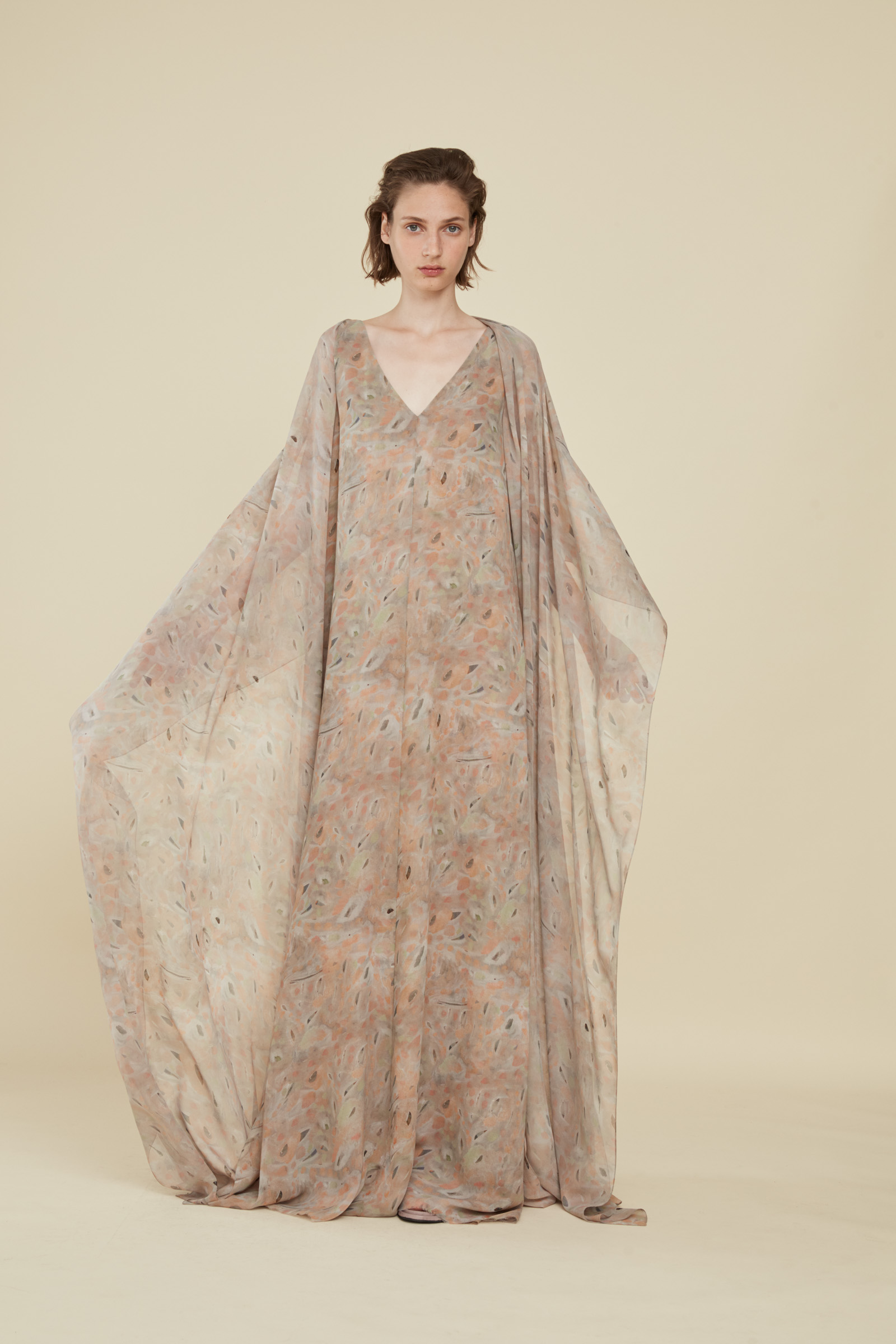 MACEDONIA PRINT SILK KAFTAN, DRESSES collection – Cortana Moda