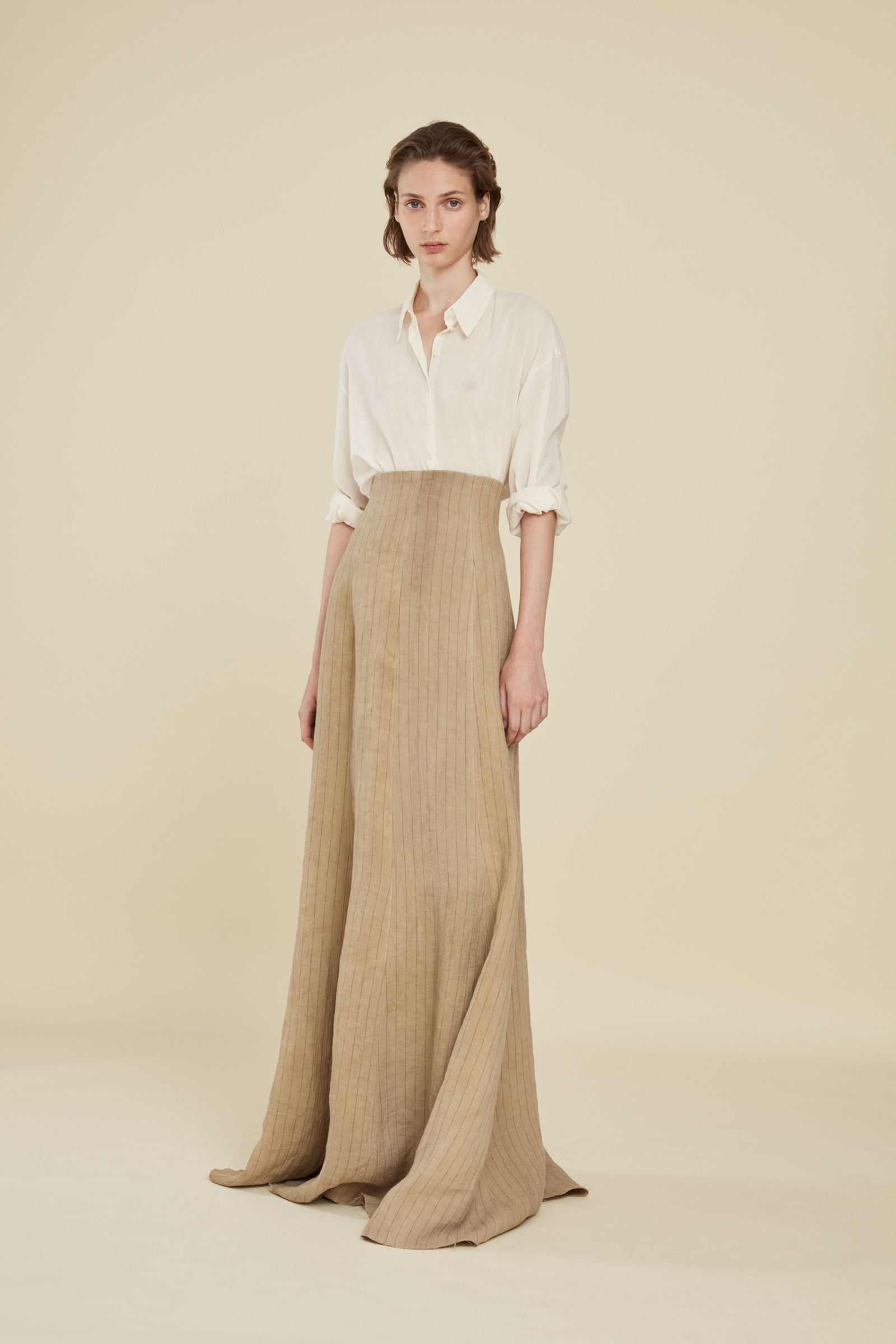 PAJA, STRIPED LINEN SKIRT, ESHOP collection – Cortana Moda