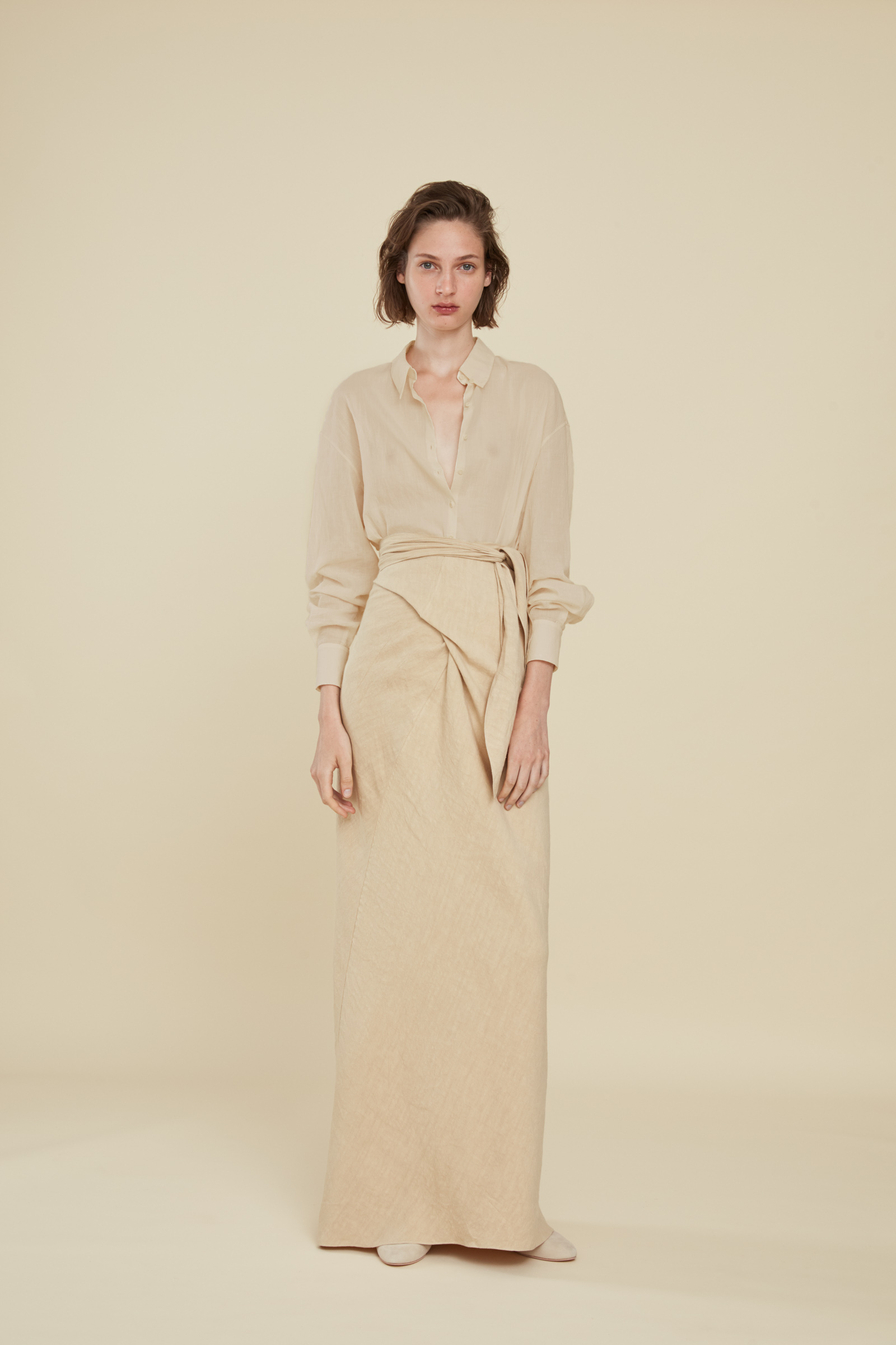 MATIAS BEIGE COTTON VOILLE SHIRT, ESHOP collection – Cortana Moda