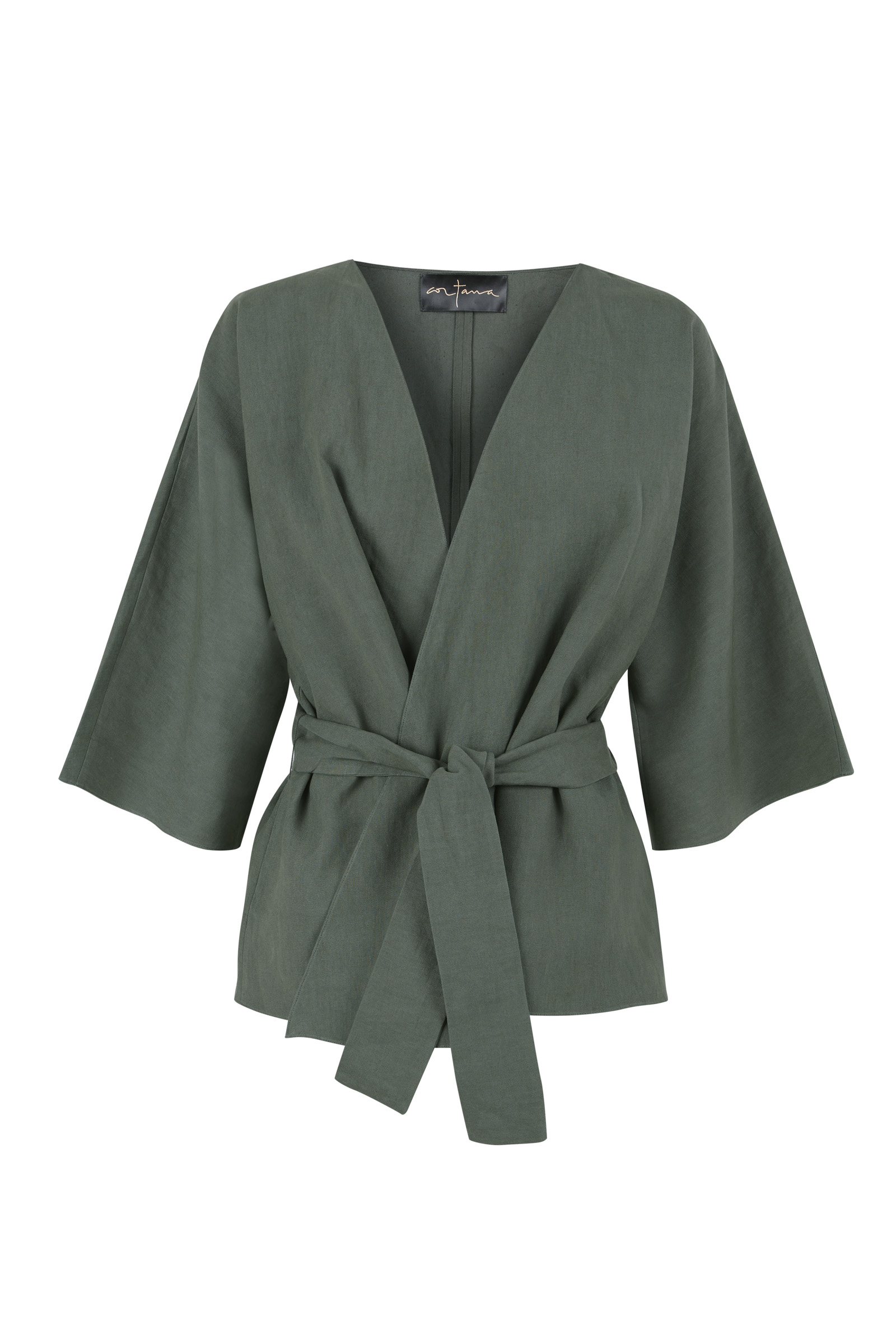 MOOH GREEN LINEN JACKET - Cortana Moda