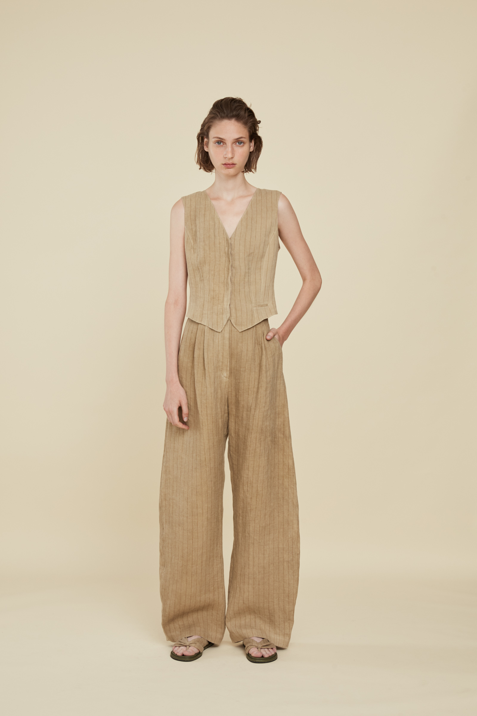 PAJA, STRIPED LINEN PANTS, ESHOP collection – Cortana Moda