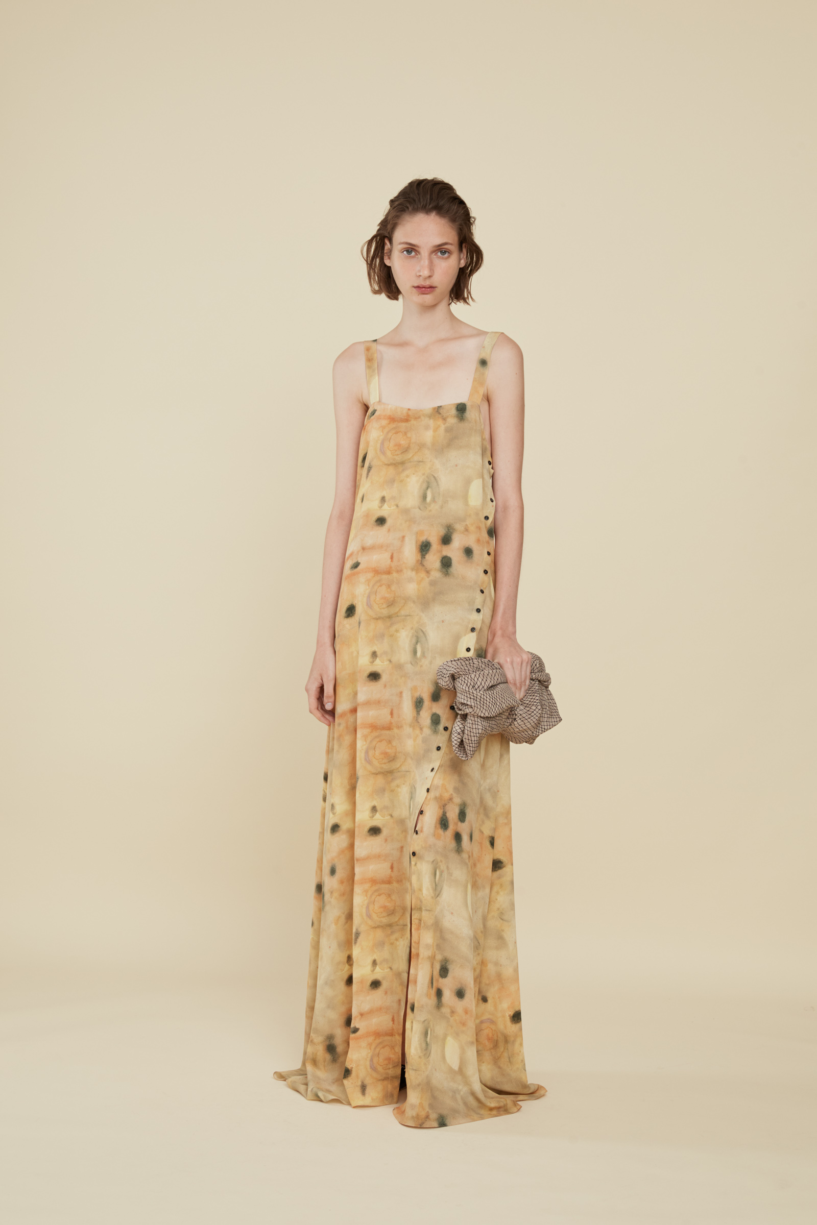 PAPAYA, PRINTED SILK DRESS, DRESSES collection – Cortana Moda