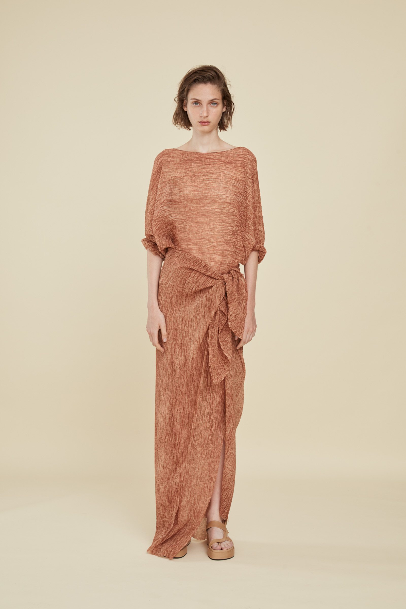 TERRA LONG HENNA DRESS, DRESSES collection – Cortana Moda