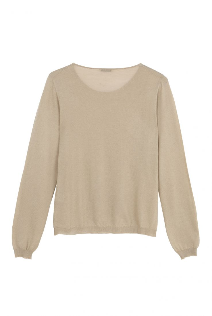 CRISTAL BEIGE CASHMERE TOP, AW20 collection – Cortana Moda