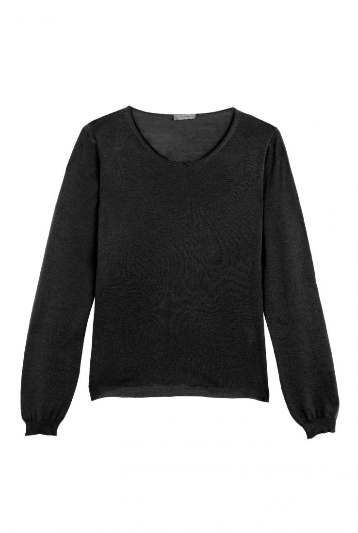 CRISTAL BLACK CASHMERE TOP - Cortana Moda