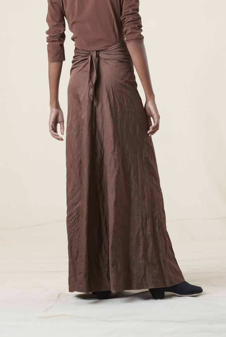 ZOCO, MAHOGANY SKIRT, Brown collection – Cortana Moda