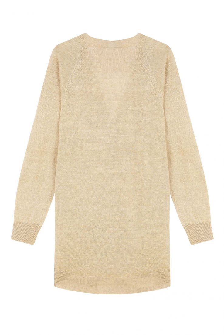ONA GOLD OVERSIZE LINEN CARDIGAN, COATS / JACKETS collection – Cortana Moda