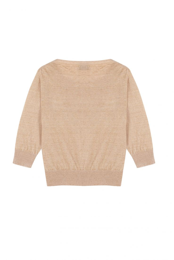 ONA TERRACOTA LINEN SWEATER, ESHOP collection – Cortana Moda