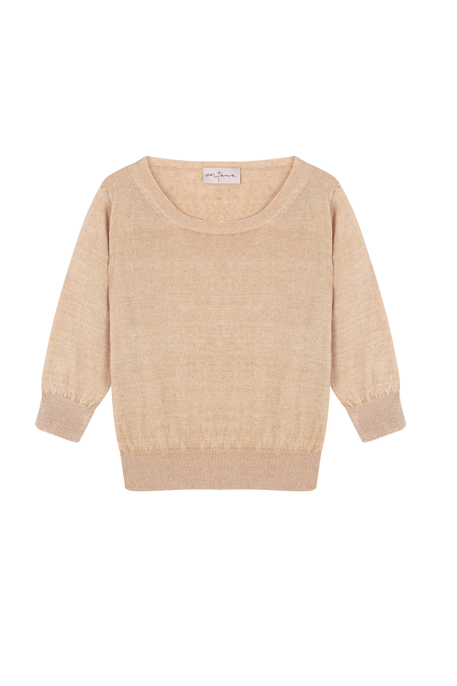 ONA TERRACOTA LINEN SWEATER - Cortana Moda