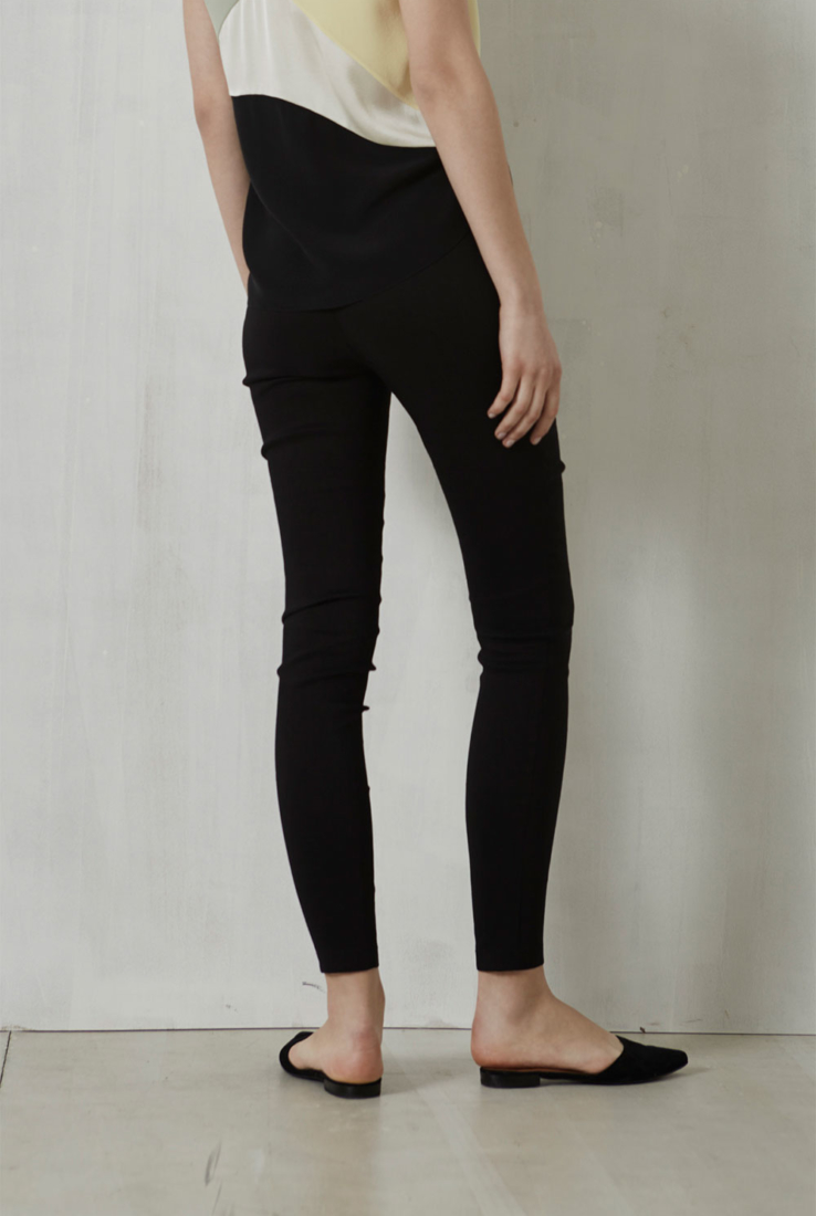 Manolo, pantalón de talle alto negro, Pantalones collection – Cortana Moda
