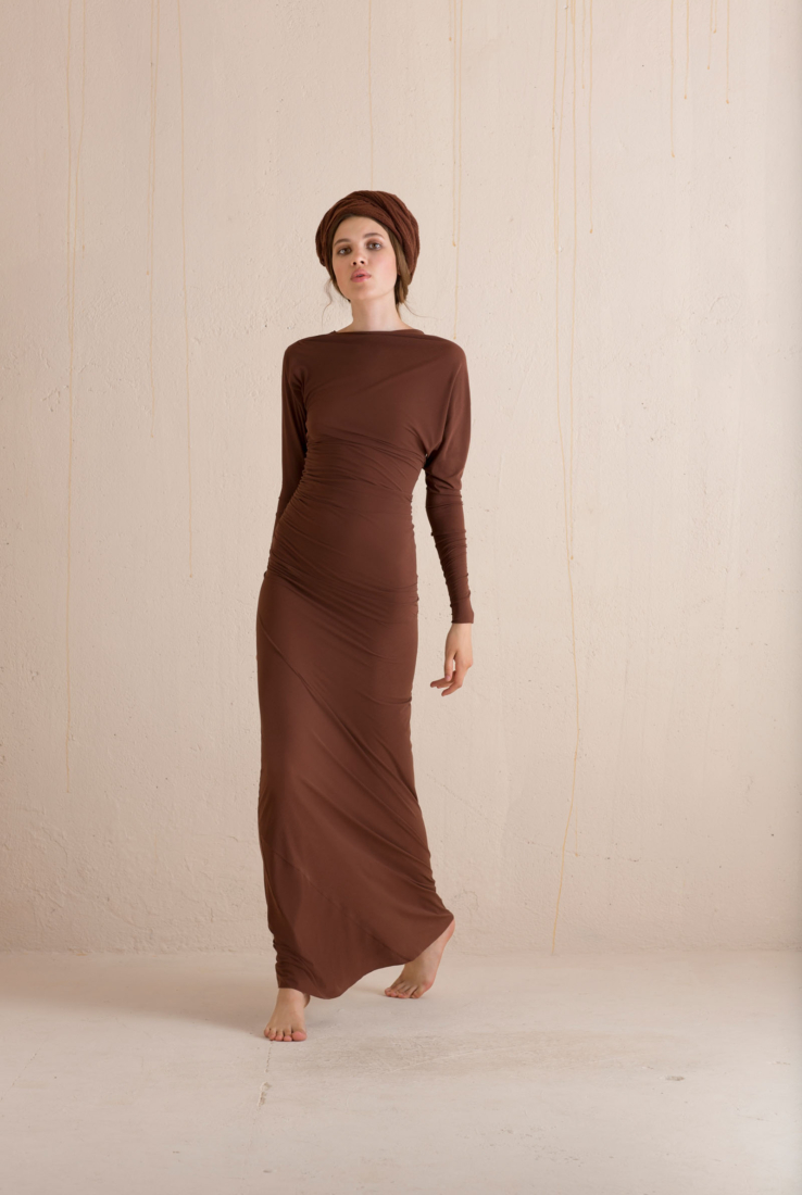 ANGELA, VESTIDO EN SEDA MAROON, ESHOP collection – Cortana Moda