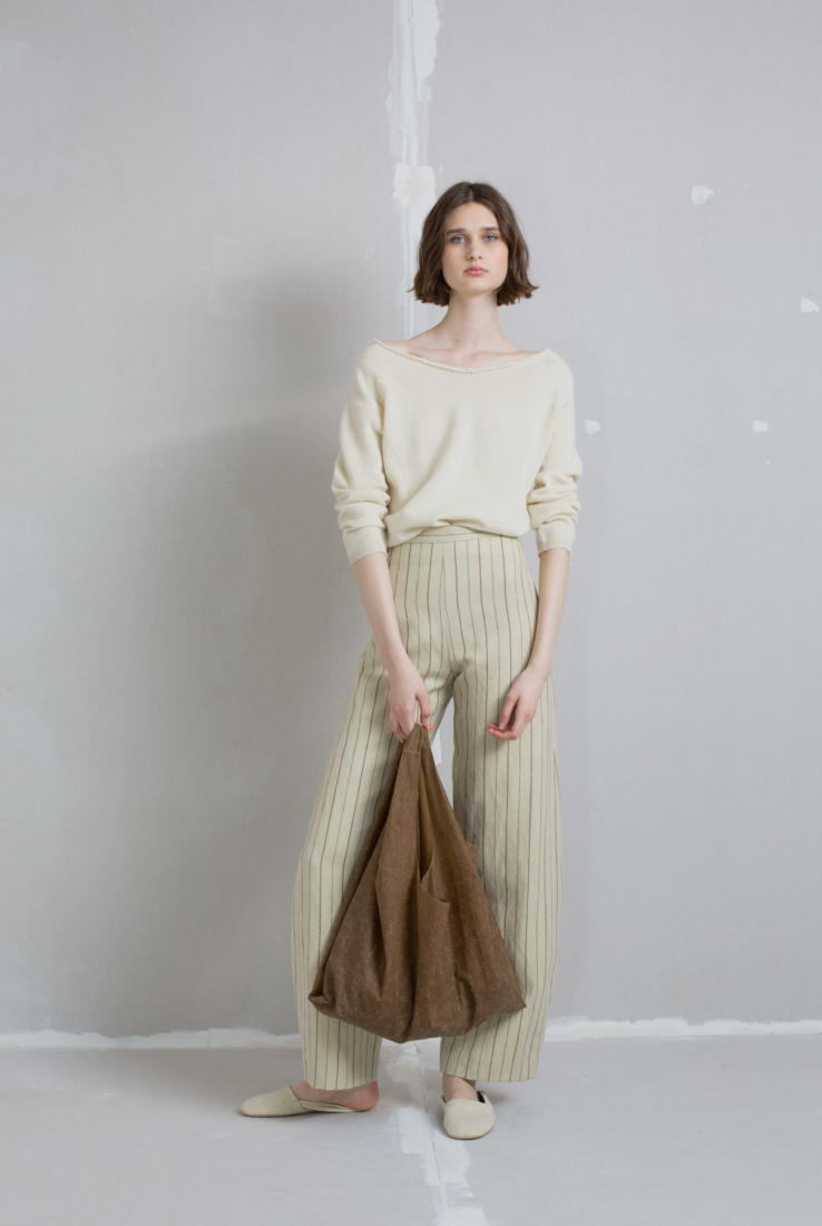 Beeswax, bolso de algodón encerado marrón, AW18 collection – Cortana Moda