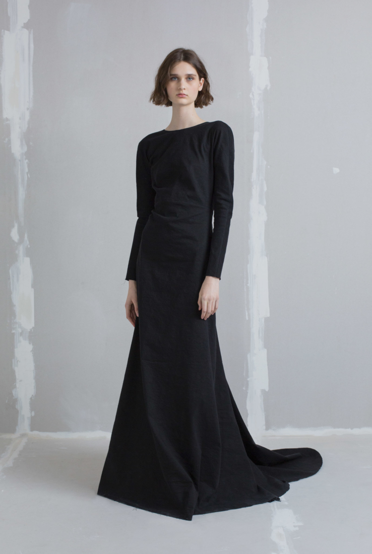 Nuit, vestido largo en negro, AW18 collection – Cortana Moda