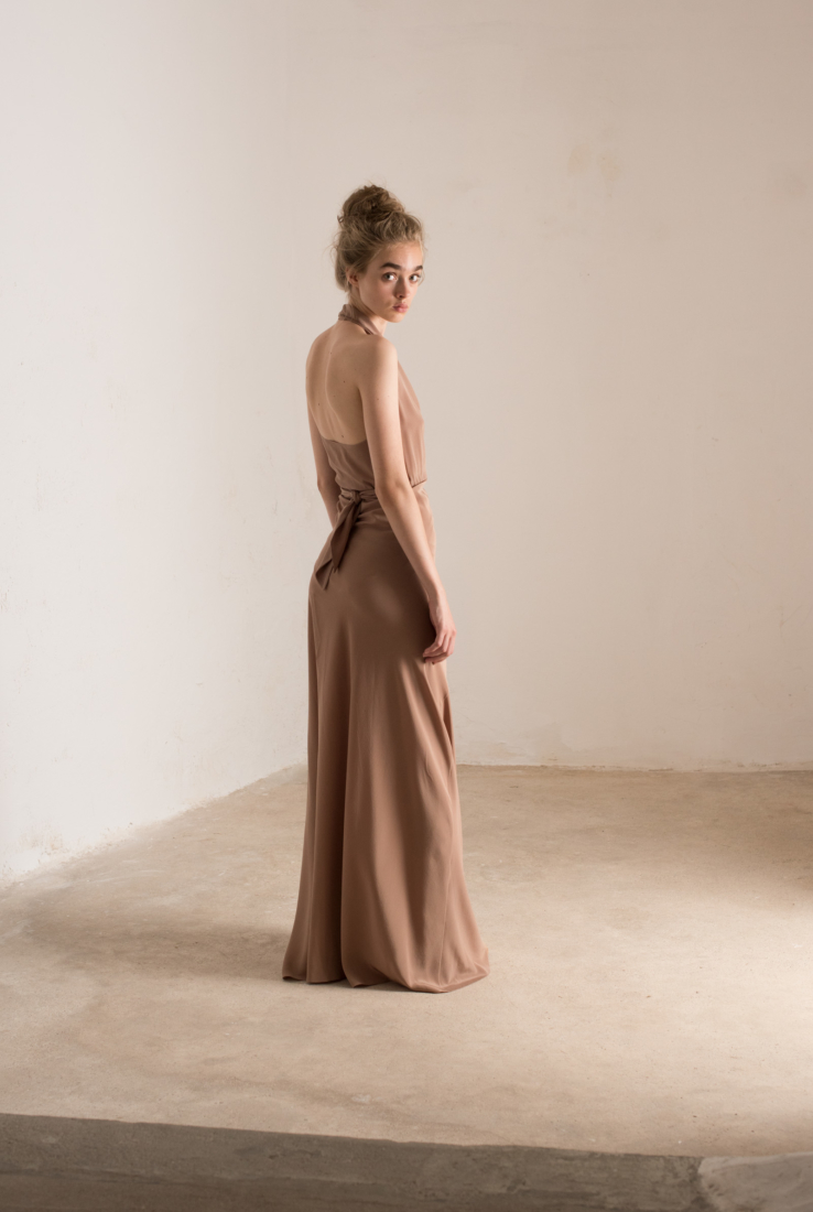 CAIRO VESTIDO HALTER TERRACOTA, SS19 collection – Cortana Moda