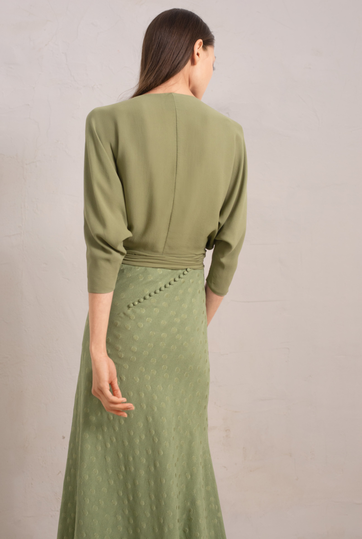 ROSARIO, FALDA VERDE, FALDAS collection – Cortana Moda
