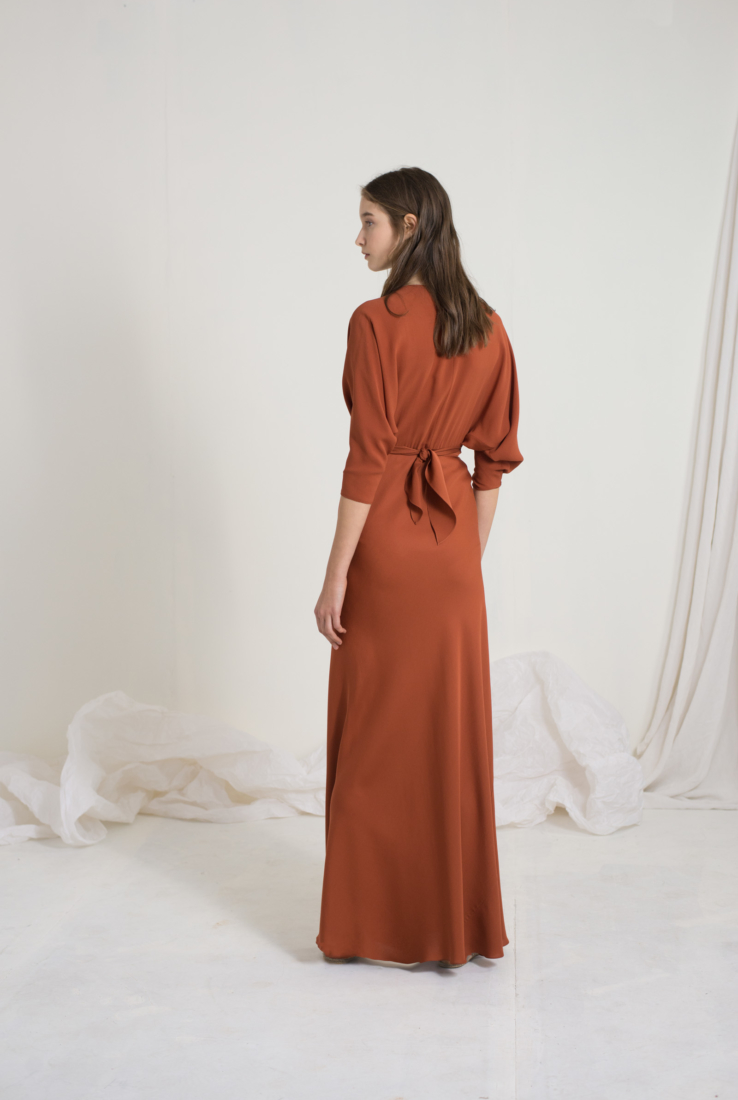 HARISSA VESTIDO ENVOLVENTE EN SEDA, SS19 collection – Cortana Moda