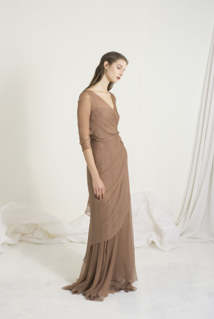 ANDREA, VESTIDO ENVOLVENTE ROSEWOOD, SS19 collection – Cortana Moda