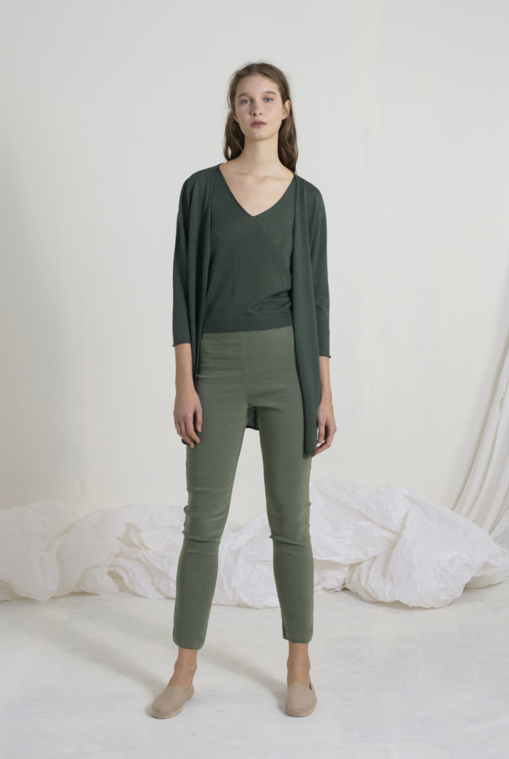 LINEN, CHAQUETA VERDE, SS19 collection – Cortana Moda