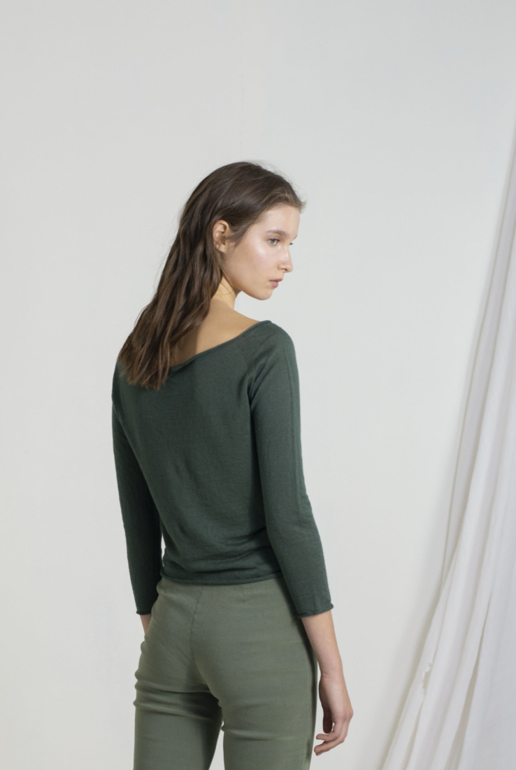 LINEN, TOP VERDE, SS19 collection – Cortana Moda