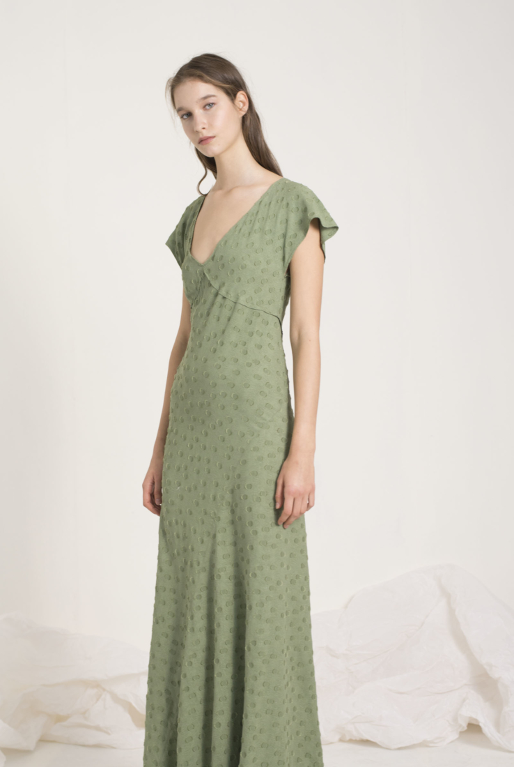 ROSARIO VESTIDO LARGO VERDE, green collection – Cortana Moda