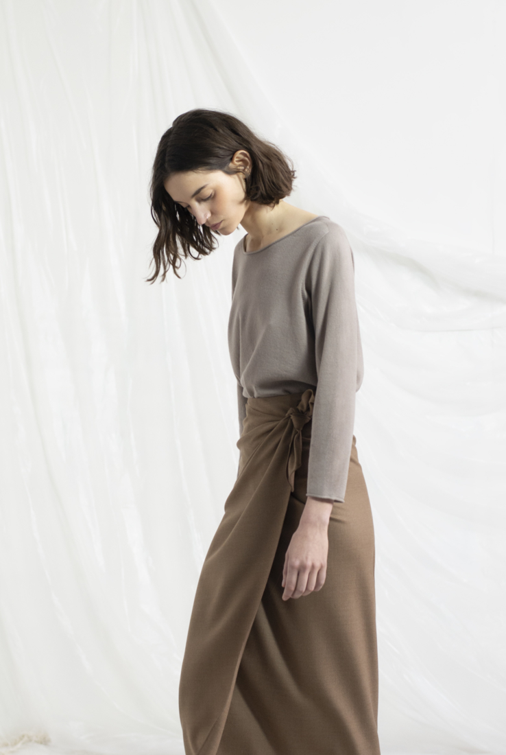 BRISA, JERSEY EN CACHEMIR VISÓN, AW19 collection – Cortana Moda