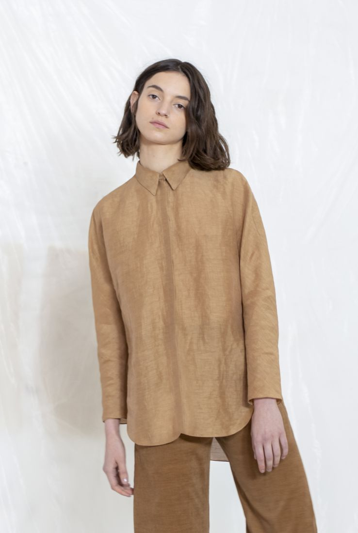 CARNE, CAMISA COLOR TERRACOTA, AW19 collection – Cortana Moda