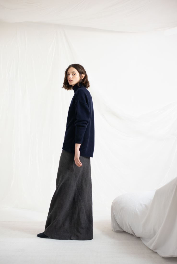 DRAP, FALDA COLOR SMOKE, AW19 collection – Cortana Moda