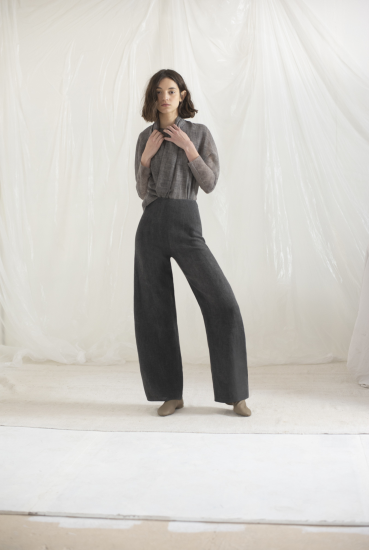 DRAP, PANTALÓN COLOR SMOKE, ESHOP collection – Cortana Moda