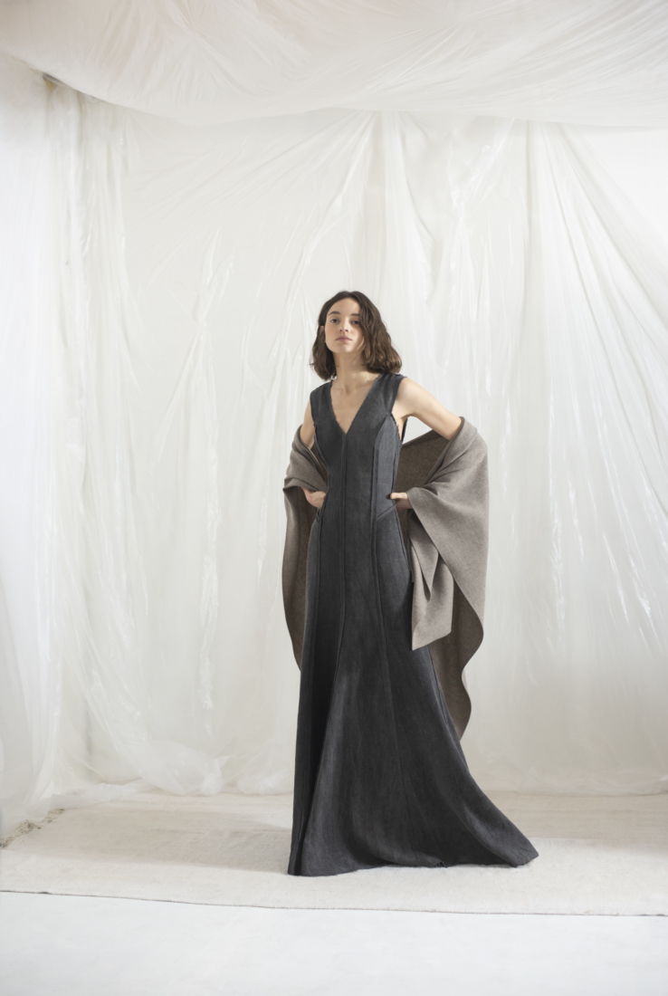 DRAP, VESTIDO COLOR SMOKE, AW19 collection – Cortana Moda