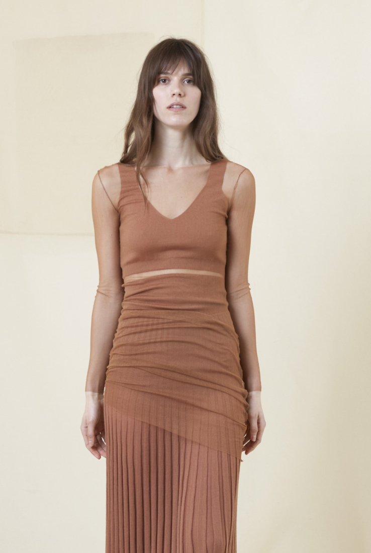 INSIDE, TOP EN CACHEMIR CORAL, AW20 collection – Cortana Moda
