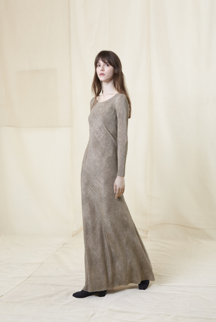 TULLE, VESTIDO LARGO EN SEDA ESTAMPADA, AW20 collection – Cortana Moda
