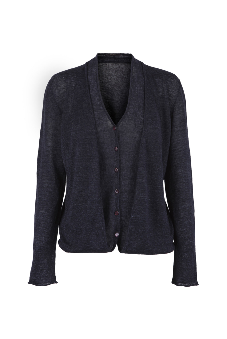 CHARLES, CARDIGAN TRANSFORMABLE BLUE NERO - Cortana Moda