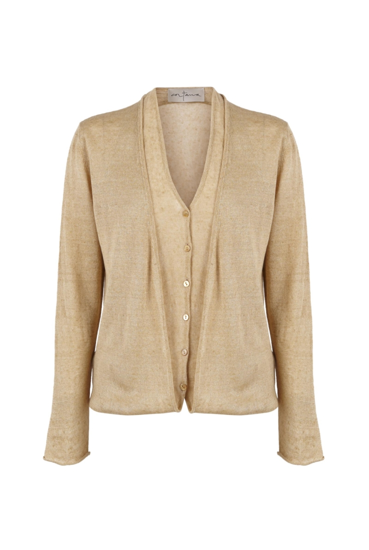 CHARLES, CARDIGAN TRANSFORMABLE DORADO - Cortana Moda