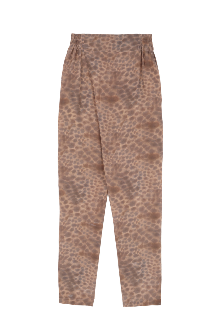 CHEETAH, PANTALON EN SEDA ESTAMPADA - Cortana Moda