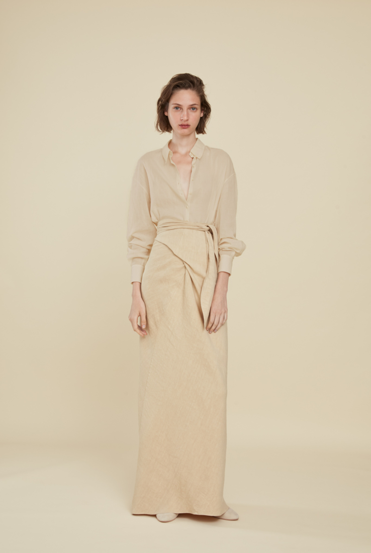 SEBASTIAN, FALDA BEIGE, SS21 collection – Cortana Moda