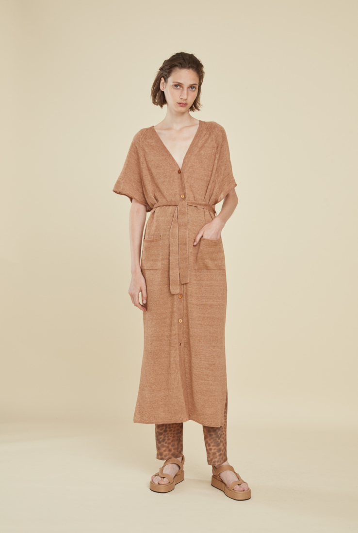 ONA VESTIDO MIDI TERRACOTA, SS21 collection – Cortana Moda