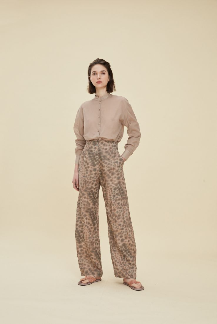 BENGAL, PANTALÓN EN LINO ESTAMPADO, SS21 collection – Cortana Moda